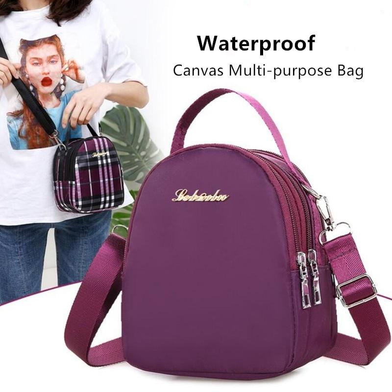 Women Bag Fashion Messenger Bags Mini Waterproof Nylon Pack Shoulder Crossbody Package Clutch Handbags