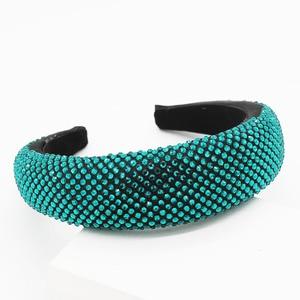 Image 5 - New European and American fashion temperament color rhinestone personality exaggerated headband travel wild casual headband 859