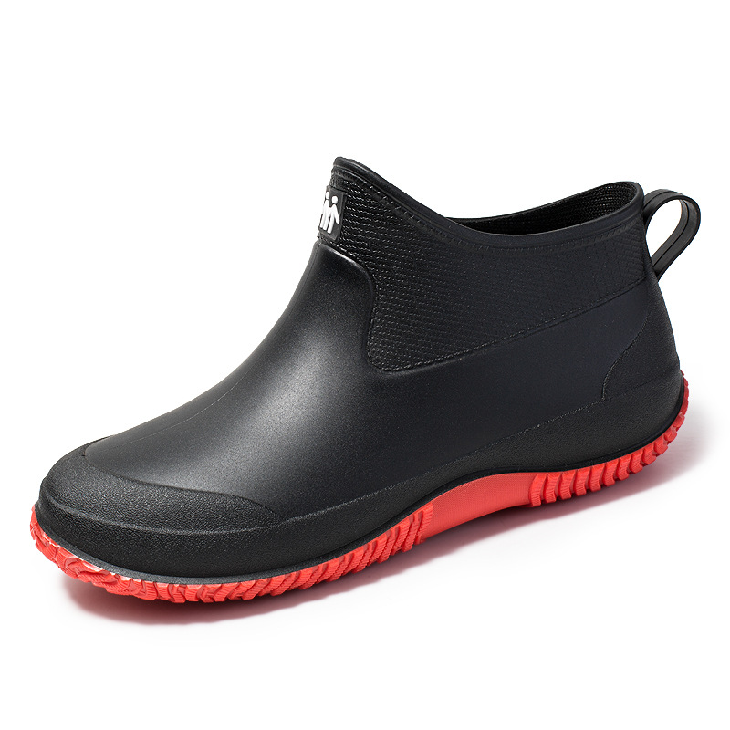 New Arrival Unisex Rubber Rain Boot Ankle Waterproof Non-Slip Chelsea Booties Easy On Fashion Couples Boots Boots Men Work Boots