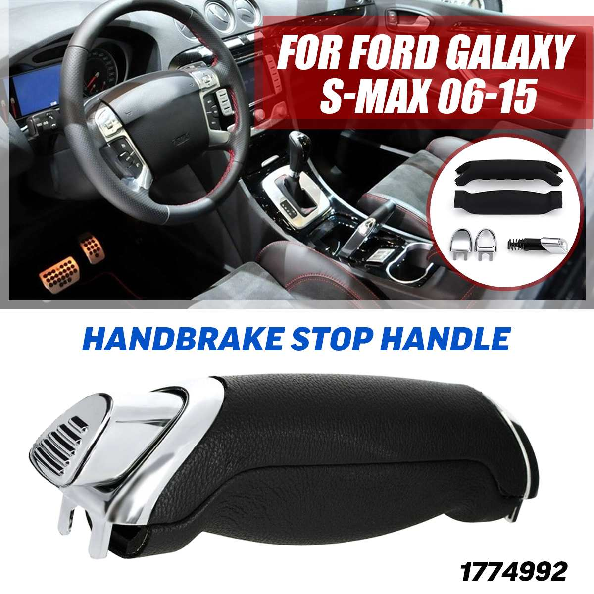 1 SET Parking Handbrake Stop Handle Lever Kit 1774992 For Ford For Galaxy For S-MAX 2006-2015
