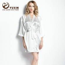Роскошный халат атласный шелковый Свадебный для невесты подружки