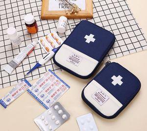 Image 4 - Trousse de trousse de premiers soins Portable extérieur, pochette de trousse de médicaments de voyage sacs durgence, petit séparateur de médicaments rangement