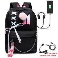 Luminous Backpacks Women/Men's School Bags Laptop Travel Bags Teenage Notebook Backpack Nylon Mochila Pusheen Bag