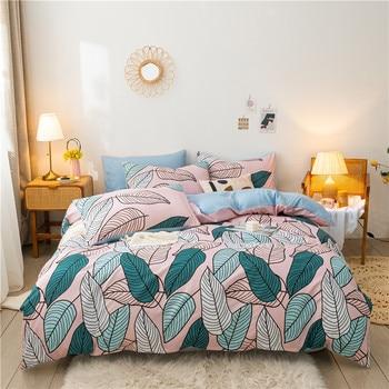 Classic Bedding Set Pastel Leaves