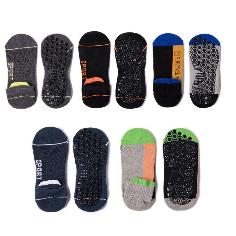 38-43 Men Non-Slip Yoga Sports Fitness Running Socks Professional Cotton Sports Socks Breathable Running Socks