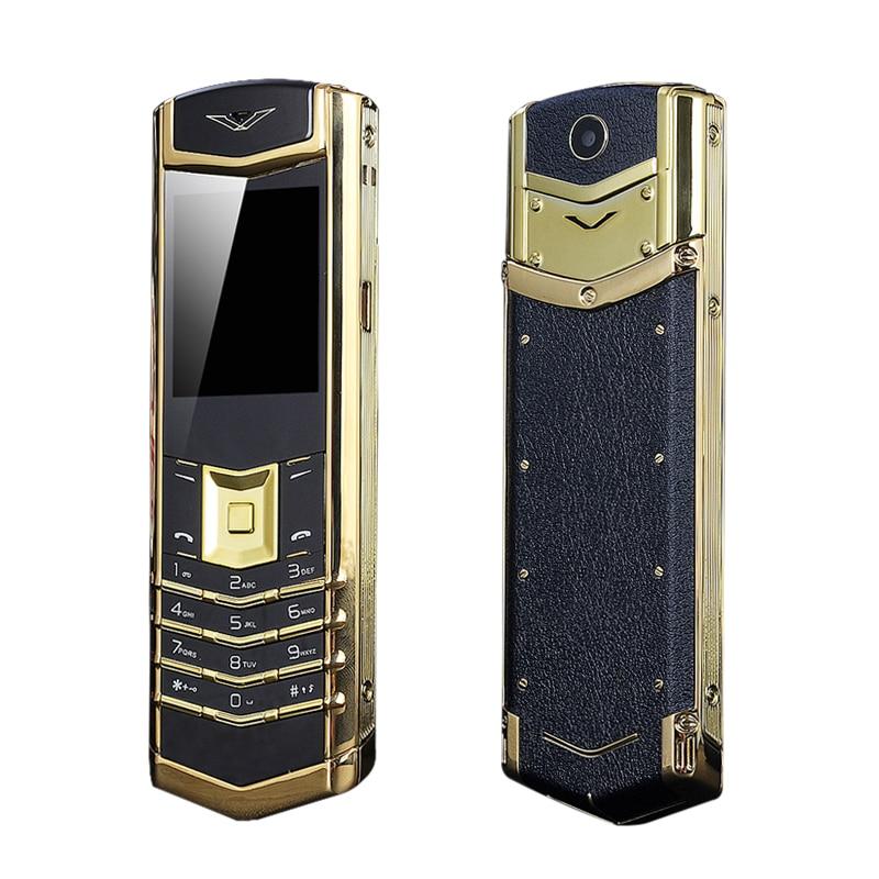 Unlock M6i Bar Luxury BT Dial Metal Body FM Camera Signature Senior Mobile Phone Single Sim Good Signal K8+