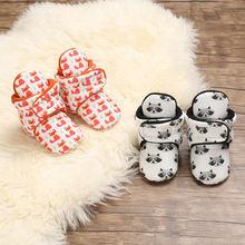 Хлопковые носки с принтом для новорожденных обувь мальчиков