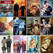 Diamante bordado pinturas quadrado completo/redondo casal velho amor incrustado ponto cruz kit 5d decoração para casa presente 2020 recém chegados