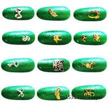 100 шт маникюрные Золотые 3d украшения для ногтей подвески из