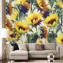 Yellow Sunflowers Tapestry Wall Hanging 3D Printed Home Decor Hippie Tapestries Boho Decorative Wall Carpet Table