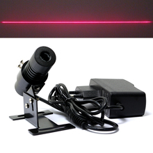 650nm 100mW 적색 레이저 라인 로케이터 모듈 22x70mm (방열판 및 유럽 플러그 포함)