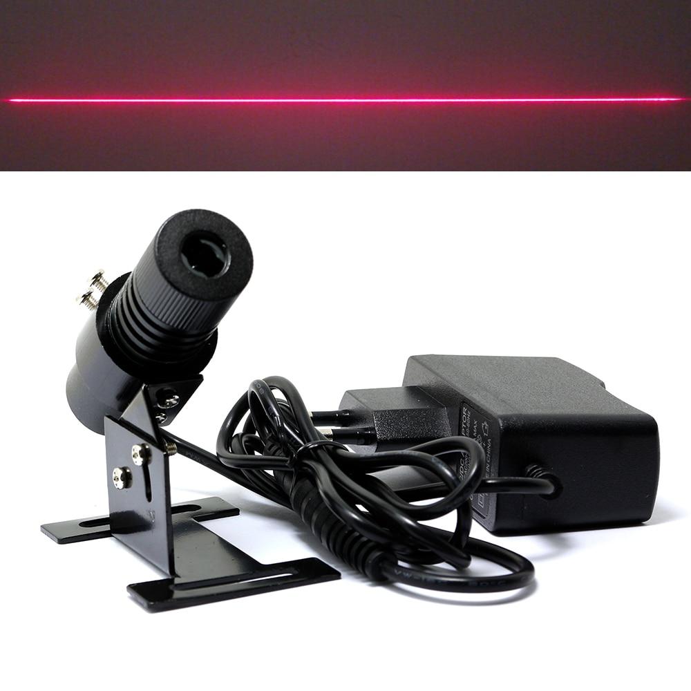 650nm 100mW Red Laser Line Locator Module 22x70mm W/Heatsink And Europe Plug