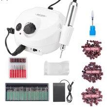 Máquina de trituração elétrica da broca do prego de 35000rpm para as brocas do manicure acessório kit pedicure polidor do prego de moagem máquina de vitrificação