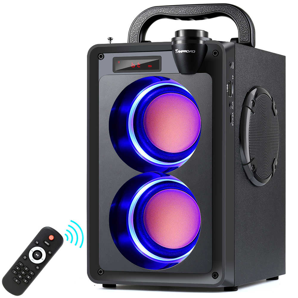 Toproad 20W Bluetooth Speaker Portable Wireless Stereo Bass Pesta Besar Speaker Kolom Mendukung FM Radio Remote Control