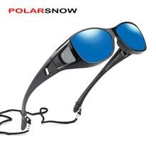 Polarsnow unissex óculos de prescrição óculos de sol polarizados masculinos mulher caber sobre óculos de pesca ao ar livre