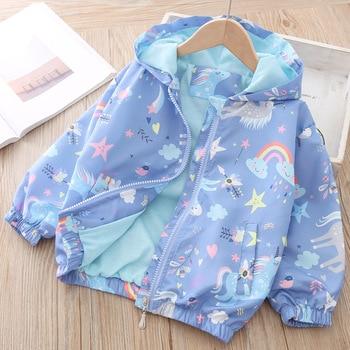 Unicorn Jacket for Girls Blue Cloud 1