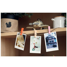 50Pcs/Pack Mini Photo Clothes Clip Holder Wooden Organizer Clothespin Peg Pin Paper Laundry Accessories