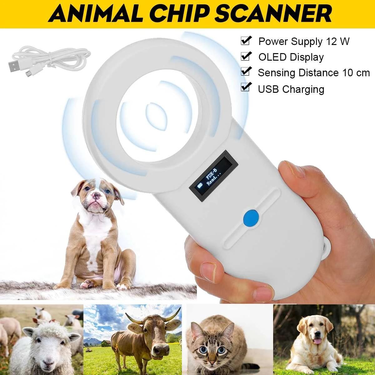 134.2kHz Animal Handheld RFID Chip Reader Microchip Portable Pet ...