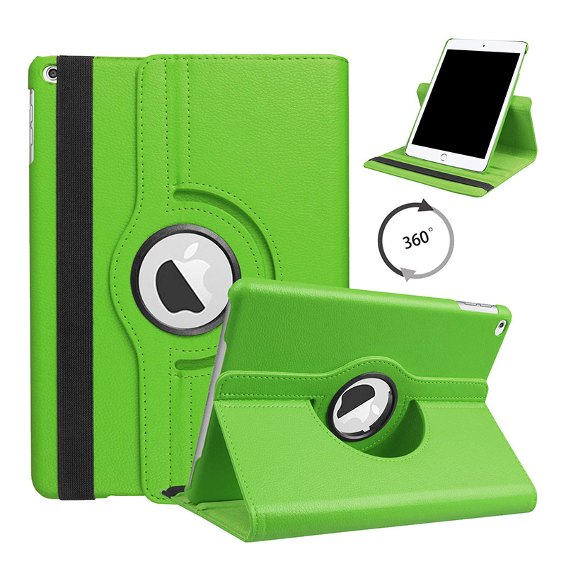 10.2 GREEN Green For iPad 10 2 2019 2020 Smart Cover 360 Degree Rotating Case for Apple iPad 7th