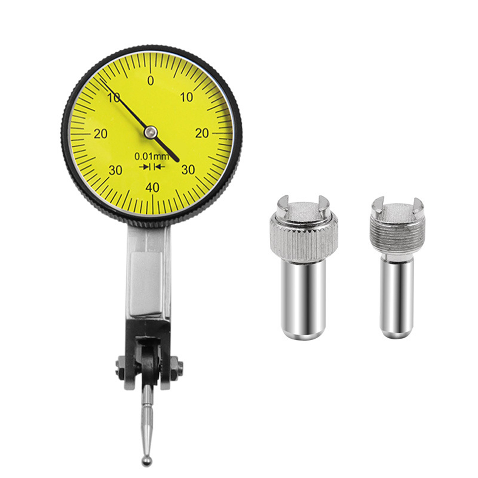 Accurate Dial Gauge Test Indicator Precision Metric with Dovetail Rails Mount 0-4 0.01mm Measuring Instrument Tool New