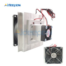 12V Thermoelectric Peltier Cooler Refrigeration Semiconductor Cooling System Kit Cooler Fan Finished Kit with Heat Sink Fan brand new household thermoelectric peltier 72w cooler refrigeration semiconductor cooling system kit cooler fan finished set