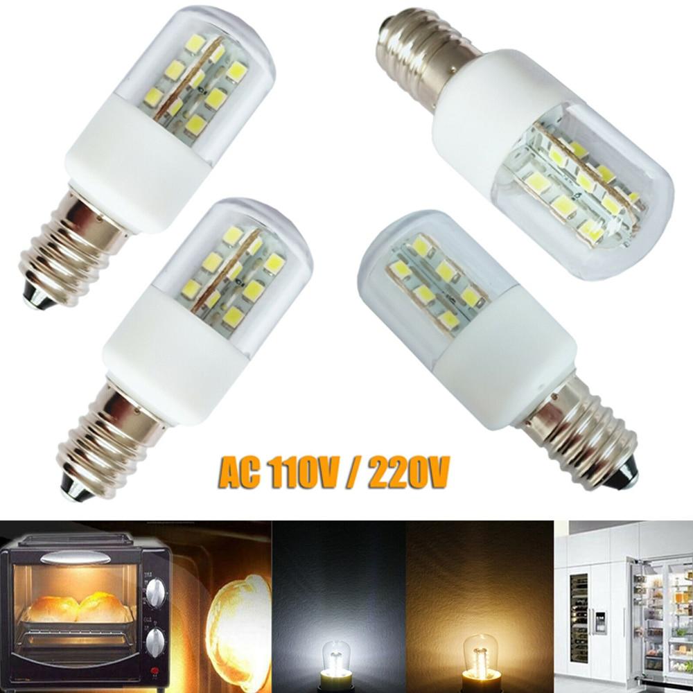 E14 E12 3W LED Microwave Oven Light Bulb Crystal Lamp Light SMD 5050 Freezer Cold  Warm White AC 110V 220V Lamp For Home