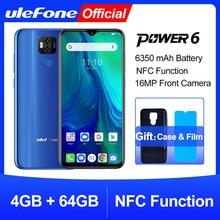"""Ulefone Power 6 Điện Thoại Thông Minh Android 9.0 Helio P35 Octa core 6350Mah 6.3 """"4 GB 64 GB 16MP mặt ID NFC 4G LTE Di Động Toàn Cầu Điện Thoại"""