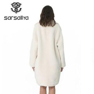 Image 2 - חורף נשים צמר מעיל קשמיר נשי מעיל ארוך תערובות צמר אלגנטי סתיו מעיל לנשים עבה חם פרווה בגדי ילדה 2019