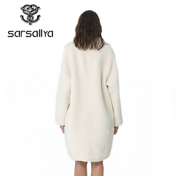 Winter Women Wool Coat Cashmere Female Long Coat Blends Woolen Elegant Autumn Jacket For Ladies Thick Warm Fur Clothes Girl 2019 1