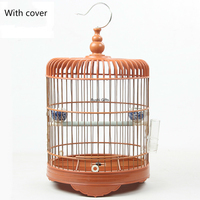 With Cover Plastic Bird Cage for Small Bird Tit Bamboo Bird Cages House Outdoor Hanging Decoration Hanging Shells Bird Nest Bed