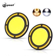 Nlpearl 2x автомобиль светильник сборки круглый дневные светодиодные