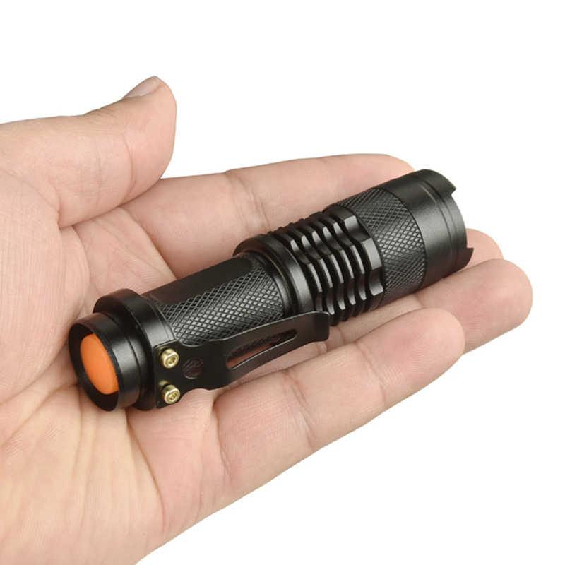 Z93-CREE XP-E Q5 Мини светодиодный фонарик 250 люмен мощность AA 14500 Регулируемый зум фокус Penlight водонепроницаемый для наружного