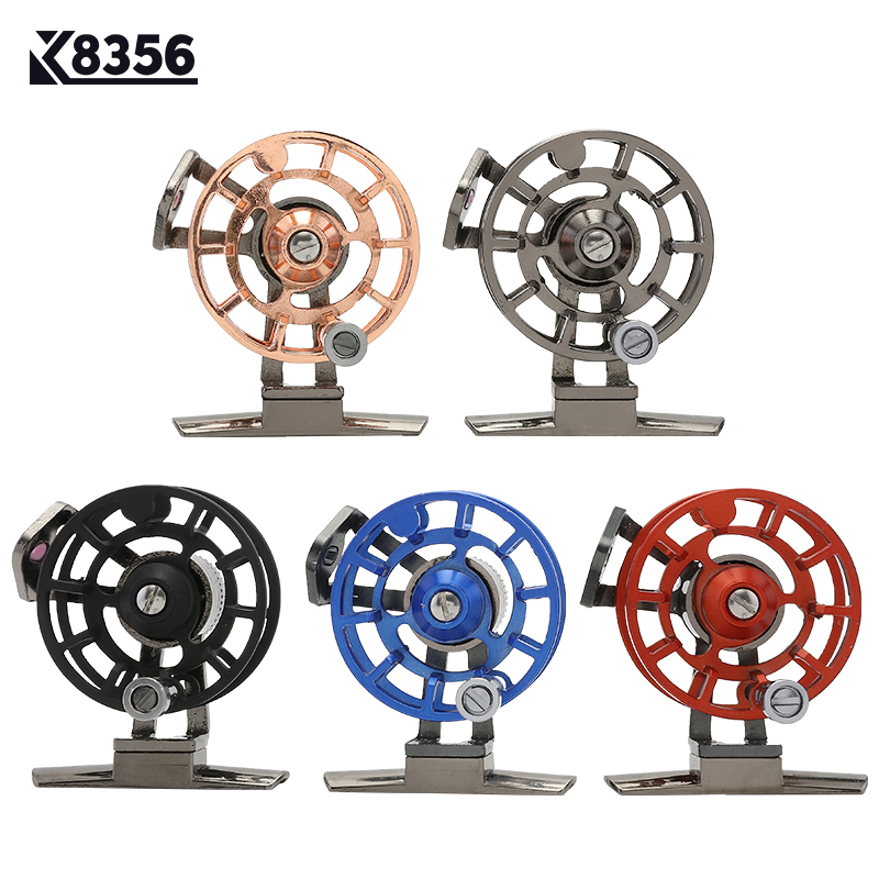 K8356 Full Metal Ultra-light Former Ice Fishing Reels Gear Ratio 1:1 Right Hand Fly Fishing Reel CNC Machined Aluminum 5 Colors