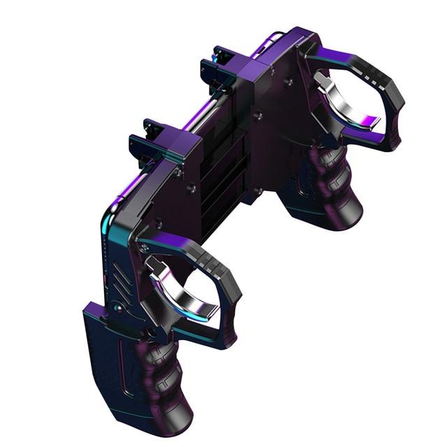 Gaming Controller Helper Mobile Phone Game Shooter Trigger Fire Button Gamepad Joystick Black
