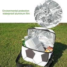 В форме футбольного мяча портативный термоохладитель Lnsulated водонепроницаемый Ланч сумка для хранения пикника Сумка ланч бокс сумка Контейнер для завтраков 4