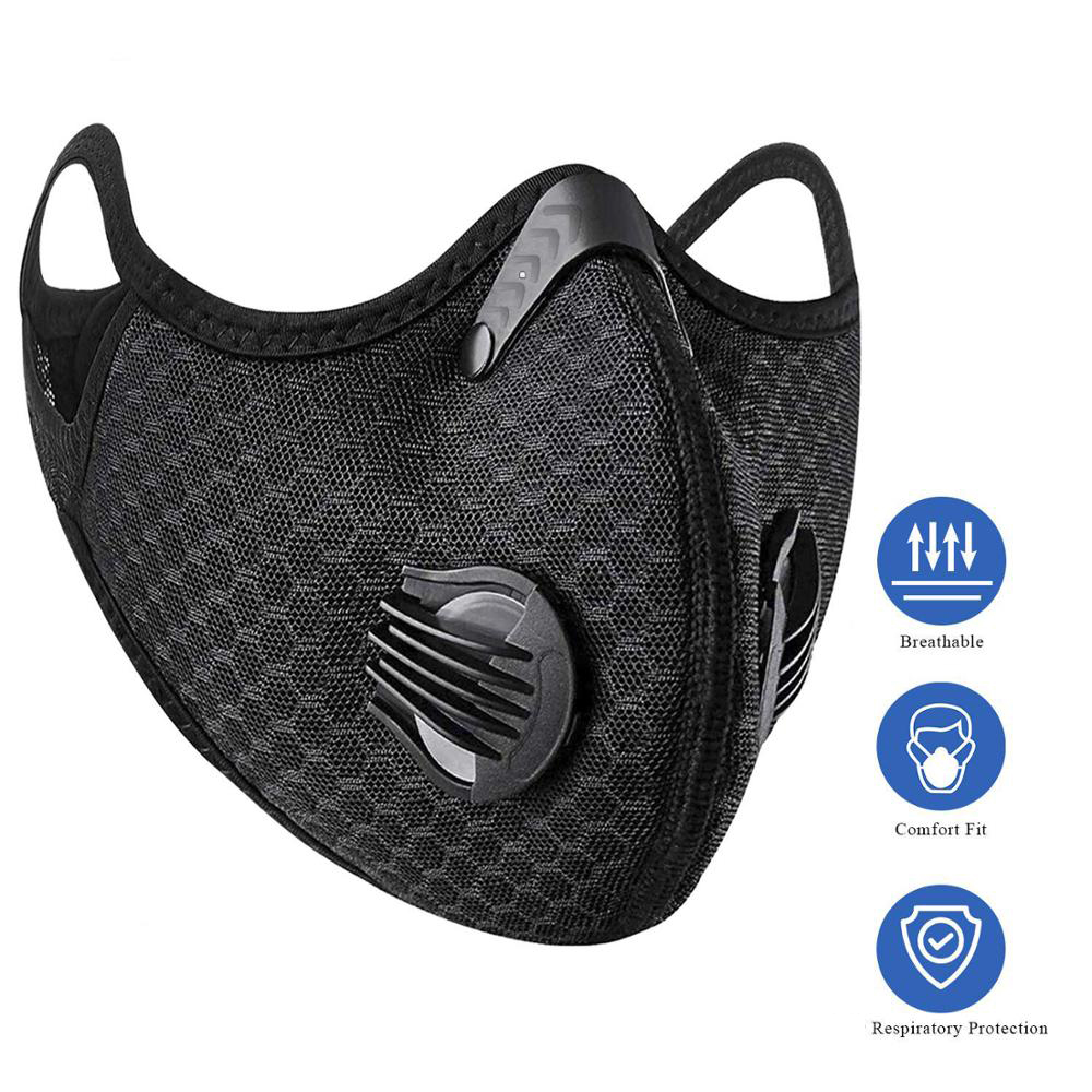 Anti Dust Anti-Pollution Mask With Activated Carbon Filter Insert Cotton Face Mask Reusable Respirators PM2.5 Mask For Men Women