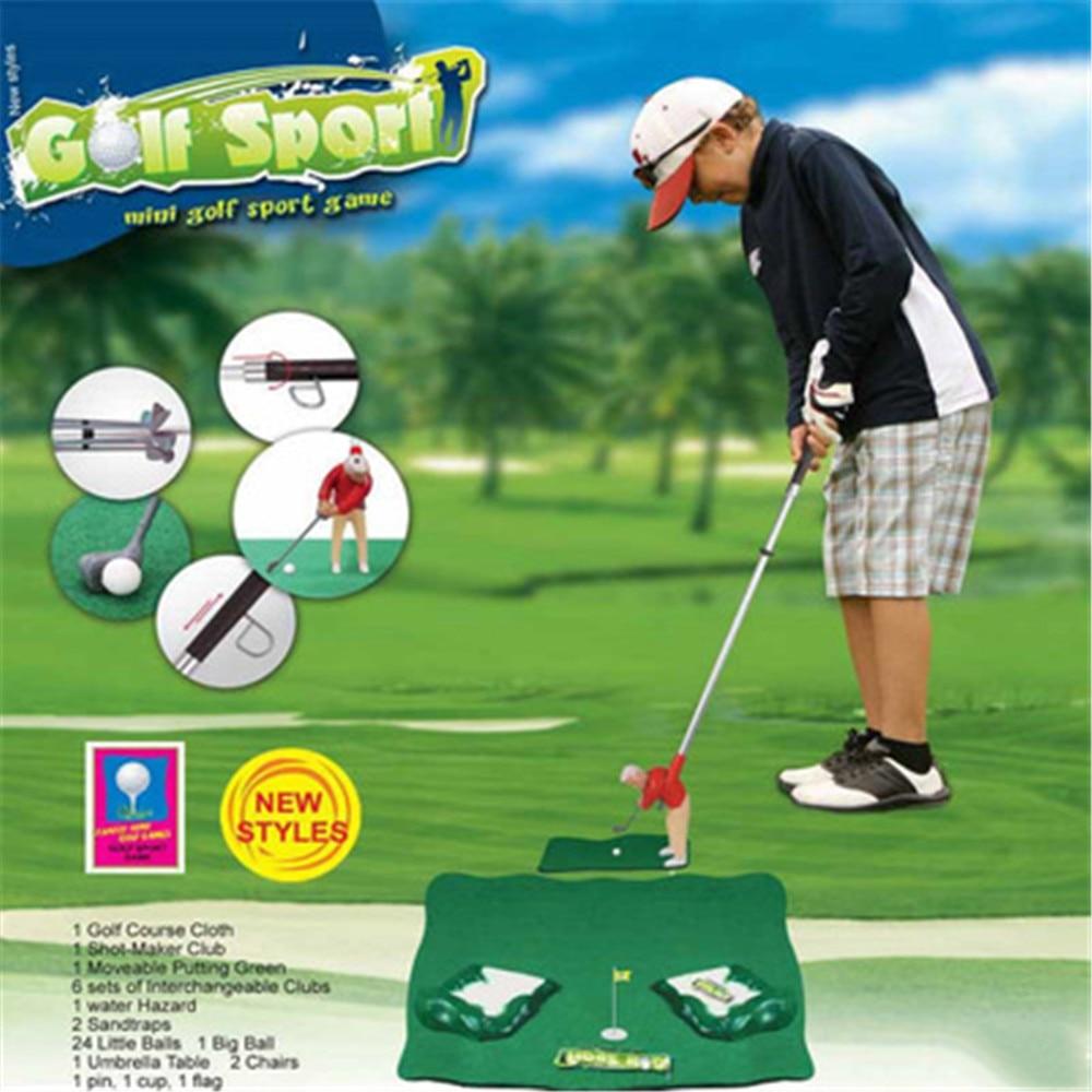 60 * 40CM Children's Golf Club Mini Doll Set Golf Carpet Toy Indoor Outdoor Portable Parent-child Games