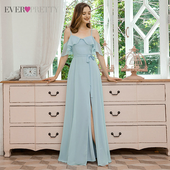 Bridesmaid Dress Ever Pretty A Line V Neck Chiffon Elegant Long Dress For Wedding Party For Woman 2020 EP00429BL Vestidos pink bridesmaid dresses plus size ever pretty elegant a line v neck short sleeve chiffon long wedding party dress women vestidos