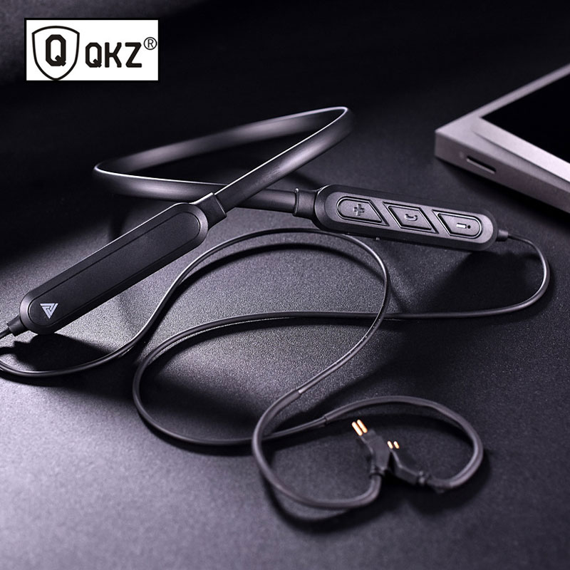 New Bluetooth motion <font><b>cable</b></font> QKZ HD Bluetooth headset upgrade <font><b>cable</b></font> VK1 VK4 VK5 VK6 <font><b>2pin</b></font> <font><b>0.75mm</b></font> 0.78mm Replaced <font><b>cable</b></font> accessories image