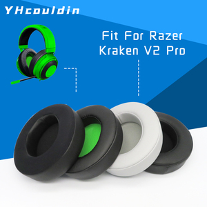 Image 1 - Earpads Ear Pad Kussen Moffen Voor Razer Kraken Pro V2 Hoofdtelefoon Accessaries Compatibel Met Kraken 7.1 V2PRO