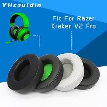イヤーパッド耳パッドクッションマフrazerのクラーケンプロゲーミングヘッドセットV2ヘッドホンアクセサリークラーケンと互換性7.1 V2PRO
