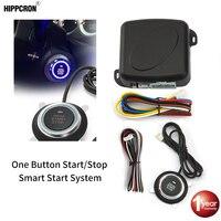 Hippcron Auto Remote Motor Starter Taste Türschloss Keyless Entry System Zentralverriegelung Alarm System Kit