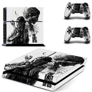 Game The Last of Us Full Cover PS4 Stickers Play station 4 Skin Sticker Decal For PlayStation 4 PS4 Console & Controller Skin new popular cod decal skin cover for playstation 4 slim for ps4 slim console stickers skin 2 pcs controller vinyl skins