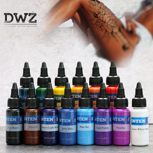 DWZ tattoo ink set 30 ML/bottle tattoo airbrush ink 14 color pigment set for body painting tattoo color pigment tattoo supply