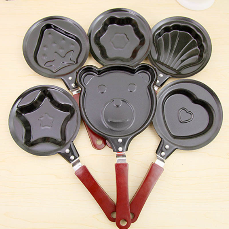 Cute Shaped Egg Mould Pans Nonstick Stainless Mini Breakfast Egg Frying Pans Cooking Tools Steel Kitchen Accessoories