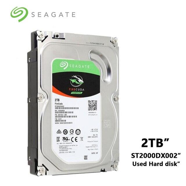 Seagate disque hybride sxd de jeu FireCuda, disque dur de 7200 pouces, disque dur SATA, 2 to, 3.5 RPM, 6 Gb/s, 64 mo de Cache (ST2000DX002)