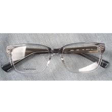 女性透明アセテート処方眼鏡フレーム長方形