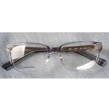 Femminile trasparente occhiali da vista in acetato cornici rettangolo