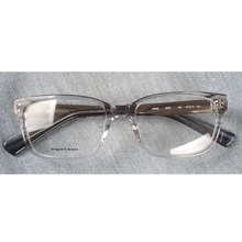 Kadın şeffaf asetat reçete gözlük çerçeveleri dikdörtgen