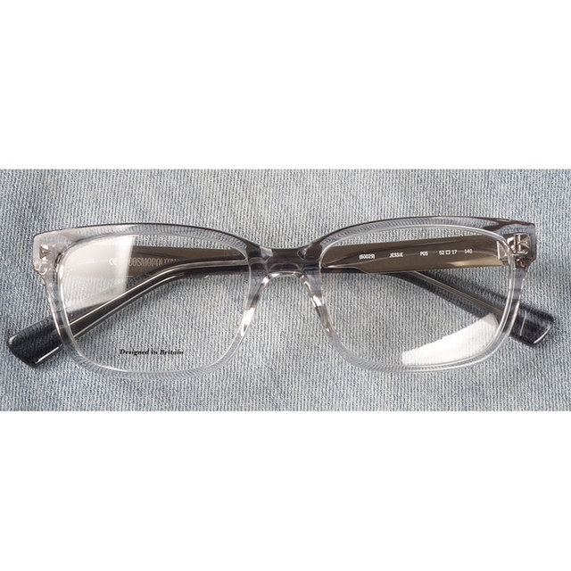 Marcos para gafas con receta rectangulares transparentes de acetato para mujer